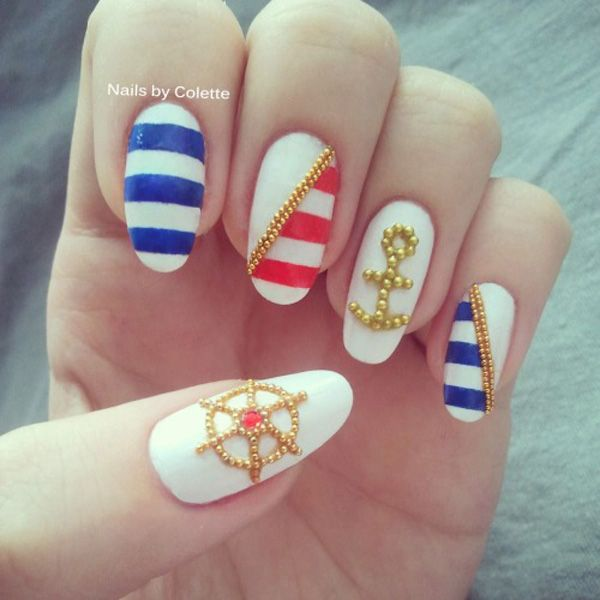 Cool Anchor Nail Art Designs - 50+ Stylish Anchor Nail Art Designs For 2019 Fashion Style Nigeria