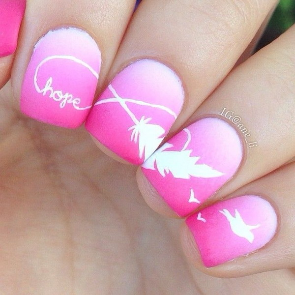 Feather Nail Art Designs