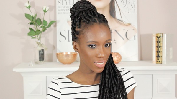 Jumbo Box Braids With Rubber Bands