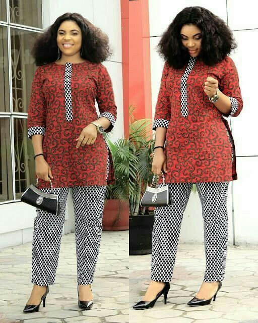 Ankara top and trouser set