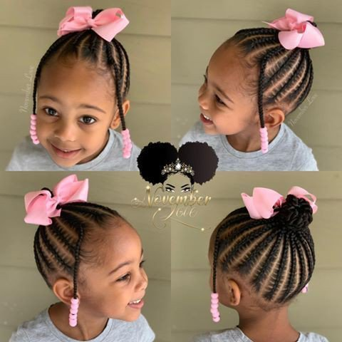 Up do braids for toddlers