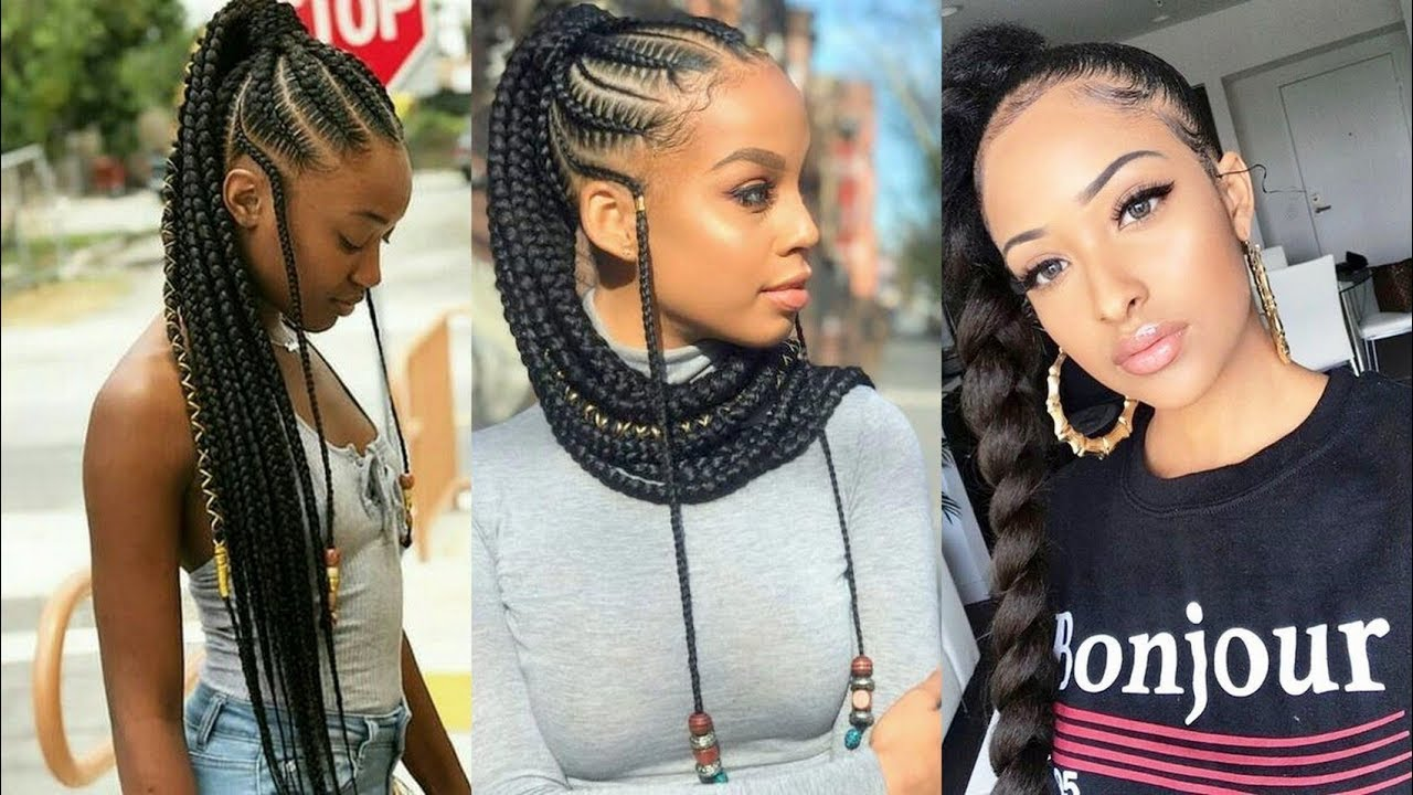 Hottest #Braided Ponytail Hairstyles 2019 For African Women Fashion Style | Fashion Style Nigeria