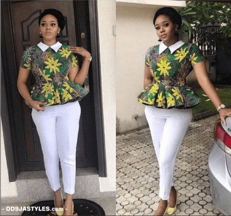 25 Ankara Designs For Women -African Dresses Styles: Trousers, Kimono, Jumpsuits and Tops ankara designs for women - 25 Ankara Designs For Women African Dresses Styles Trousers Kimono Jumpsuits and Tops 15 - 25 Ankara Designs For Women -African Dresses Styles: Trousers, Kimono, Jumpsuits and Tops