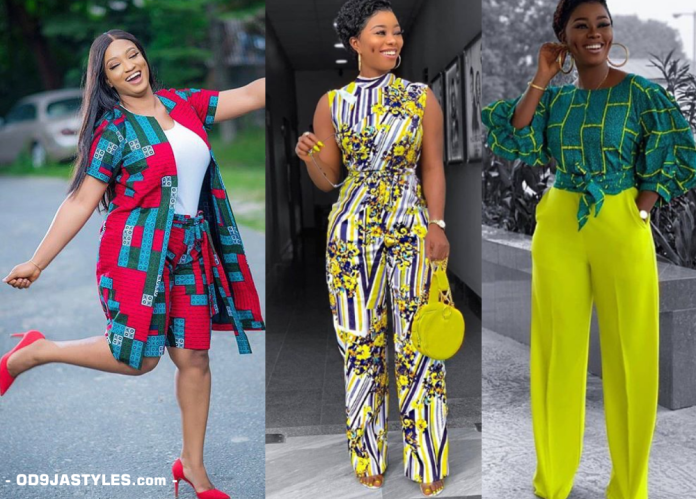 25 Ankara Designs For Women -African Dresses Styles Trousers, Kimono, Jumpsuits and Tops