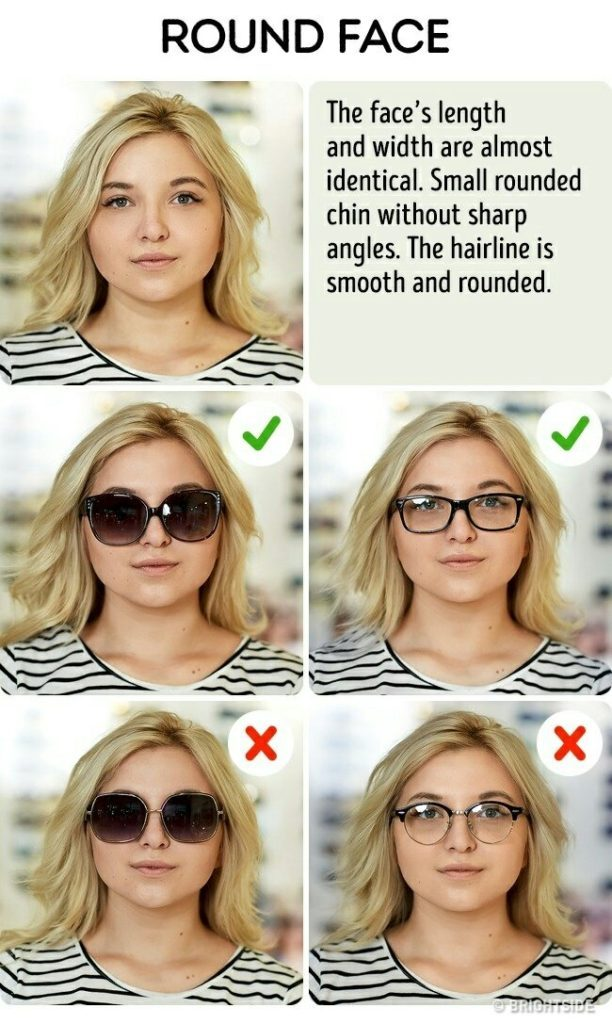 perfect sunglasses for round face shape female