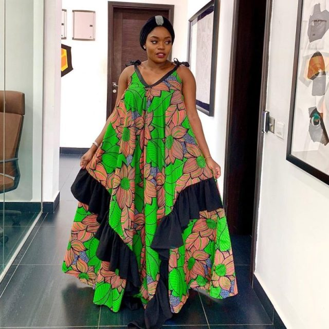 Ankara Gown Styles for Ladies ankara gown styles for ladies - Ankara Gown Styles for Ladies 10 640x640 - 50 Gorgeous Ankara Gown Styles for Ladies – Ankara Styles Pictures [2020 Trends]