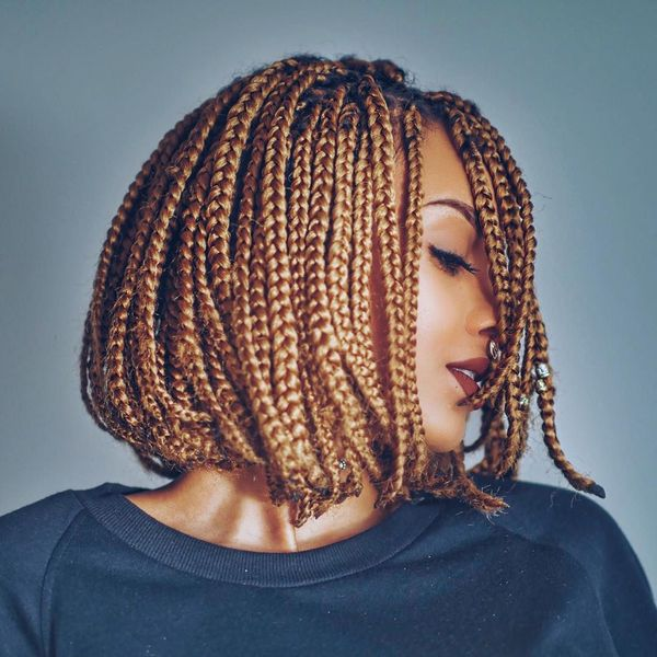 Awesome Box Braids Bob Hairstyles 2  - Awesome Box Braids Bob Hairstyles 2 - Braided Bob Hairstyle Ideas: Bob Braids Pictures – 50 Designs