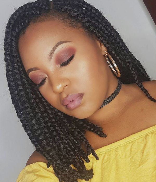 Awesome Box Braids Bob Hairstyles 4  - Awesome Box Braids Bob Hairstyles 4 - Braided Bob Hairstyle Ideas: Bob Braids Pictures – 50 Designs