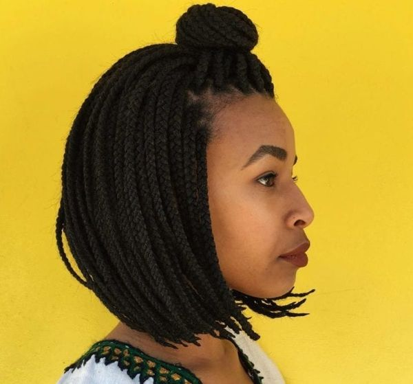 Ideas of Long Bob with Braids for Black Women 3  - Ideas of Long Bob with Braids for Black Women 3 - Braided Bob Hairstyle Ideas: Bob Braids Pictures – 50 Designs