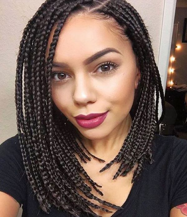 Short Braided Bob Styles for African American Women 2  - Short Braided Bob Styles for African American Women 2 - Braided Bob Hairstyle Ideas: Bob Braids Pictures – 50 Designs