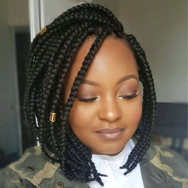 The Best Braided Bobs Hairstyles 2  - The Best Braided Bobs Hairstyles 2 - Braided Bob Hairstyle Ideas: Bob Braids Pictures – 50 Designs