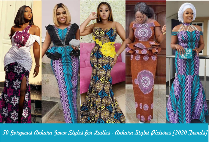 Ankara Gown Styles for Ladies