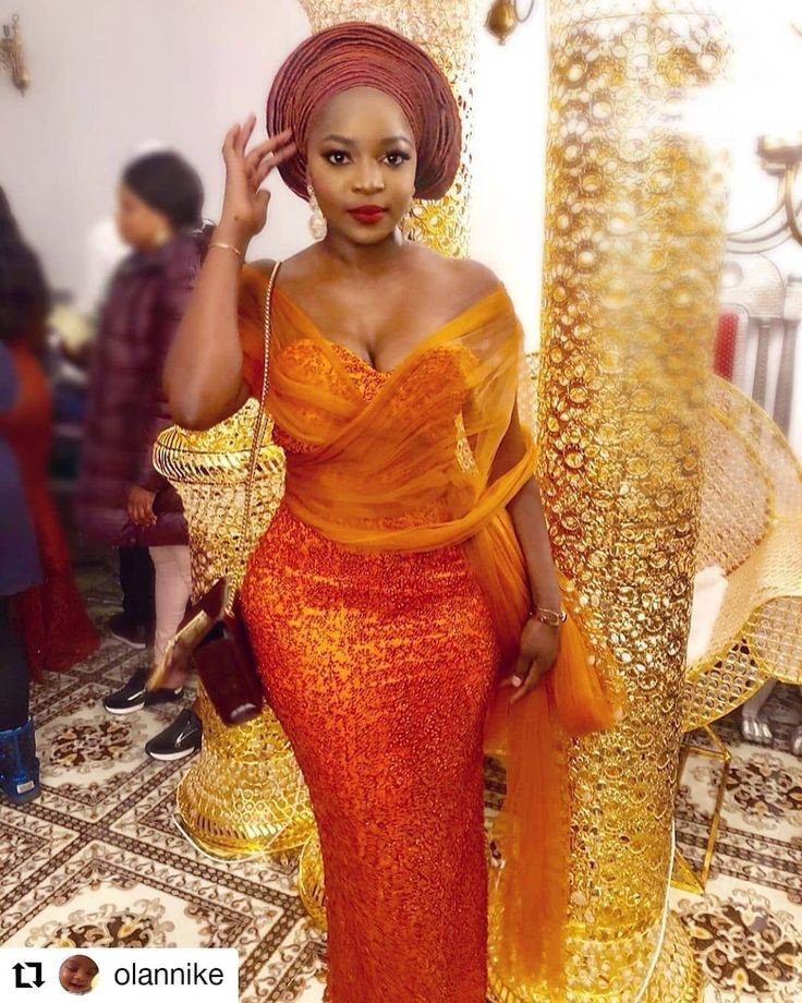 Lace aso ebi styles for busty ladies
