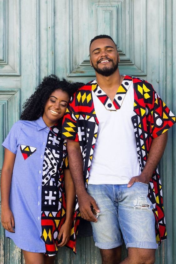 African print shirt for couples