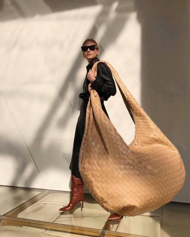 Giant leather bags