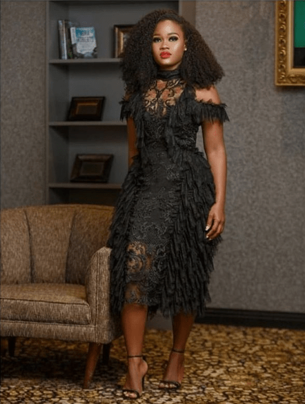 black lace asoebi styles - BLACK ASOEBI 1 - 15 Black Lace Asoebi Styles To Make You Look Fabulous This Weekend