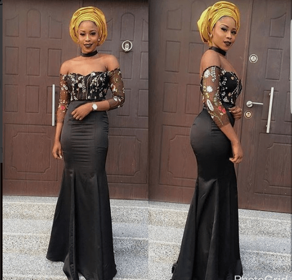 black lace asoebi styles - BLACK ASOEBI 4 - 15 Black Lace Asoebi Styles To Make You Look Fabulous This Weekend
