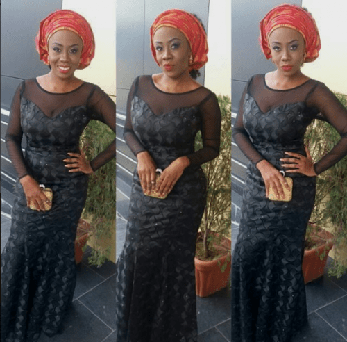 black lace asoebi styles - BLACK ASOEBI 9 e1540550685254 - 15 Black Lace Asoebi Styles To Make You Look Fabulous This Weekend