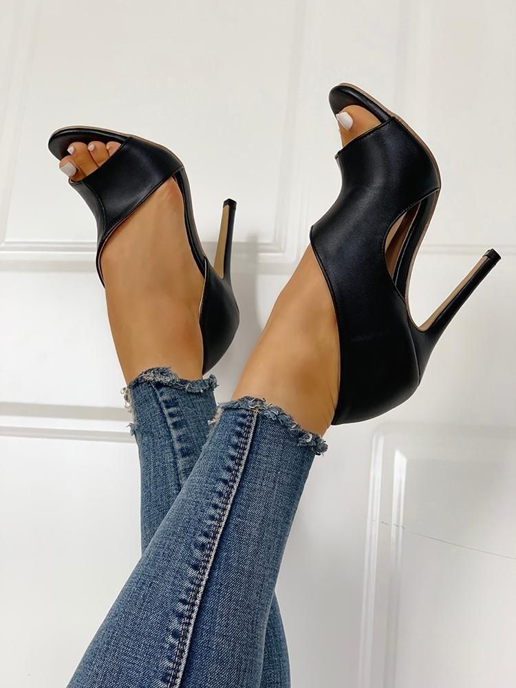 black peep toes heels - Types of Shoes for Women