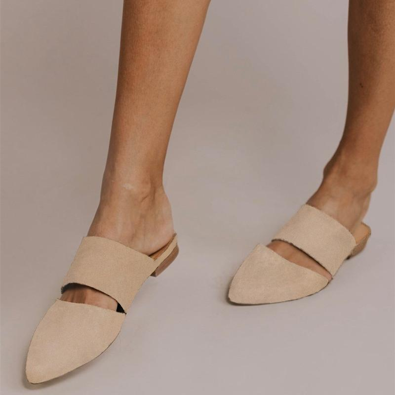 brown flat mules - Types of Shoes for Women