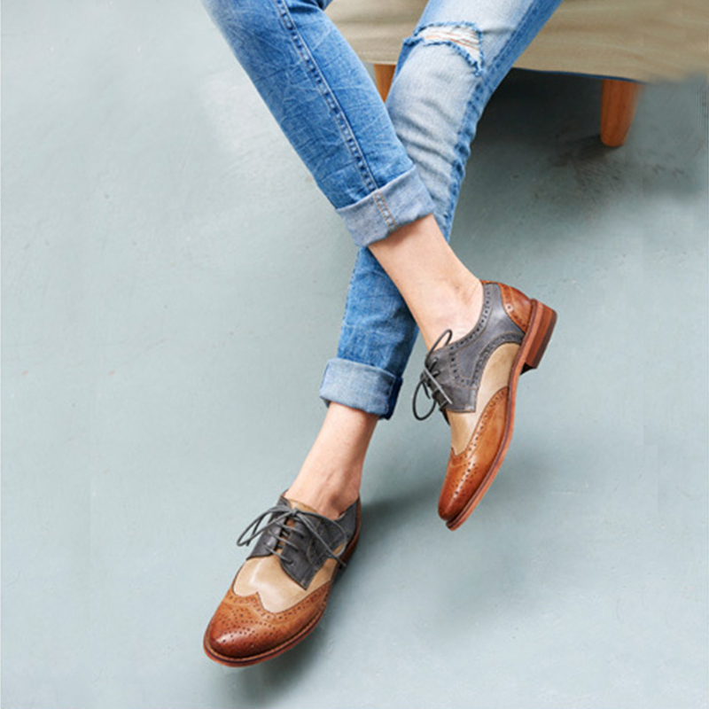 leather brogues for women - Types of Shoes for Women