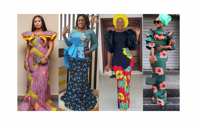 long gown ankara styles pictures
