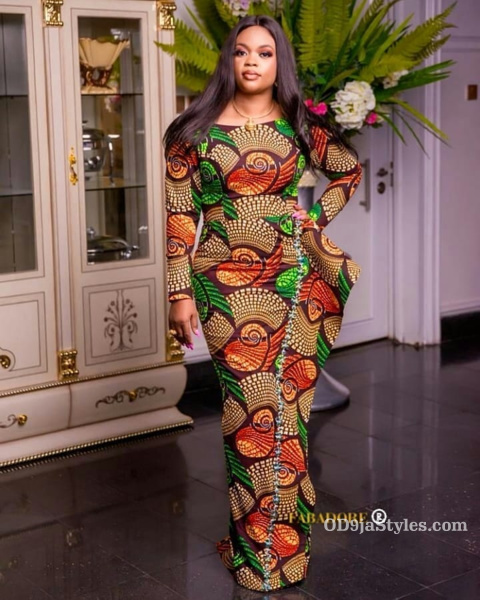 long gown ankara styles pictures long gown ankara styles pictures - long gown ankara styles pictures 11 - Stunning! See The 35 Latest Long Gown Ankara Styles Pictures We Are Currently Vibing With
