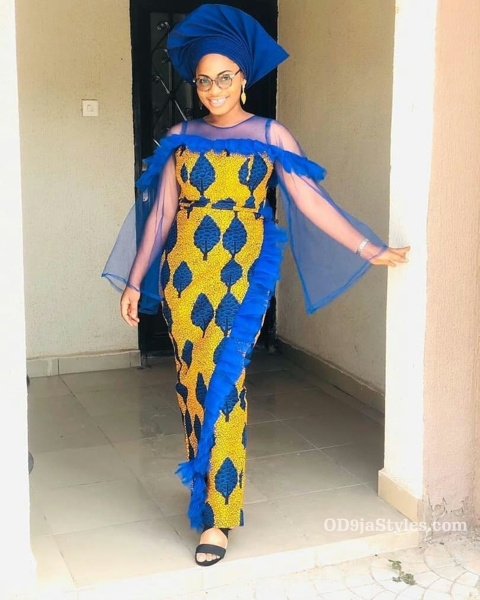 long gown ankara styles pictures long gown ankara styles pictures - long gown ankara styles pictures 12 - Stunning! See The 35 Latest Long Gown Ankara Styles Pictures We Are Currently Vibing With