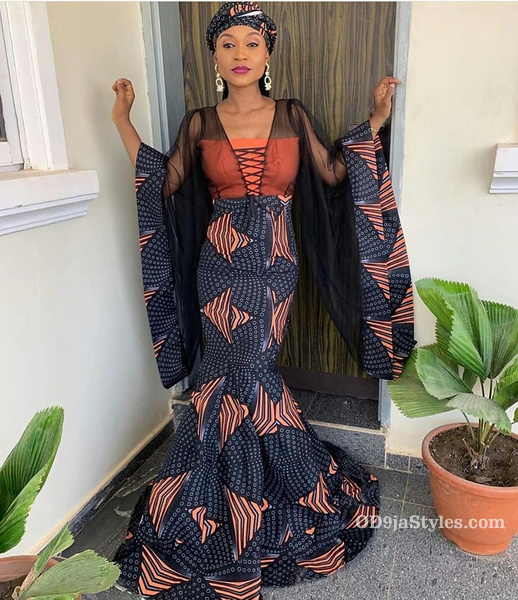 long gown ankara styles pictures long gown ankara styles pictures - long gown ankara styles pictures 14 - Stunning! See The 35 Latest Long Gown Ankara Styles Pictures We Are Currently Vibing With