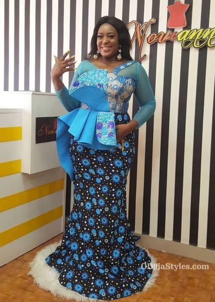 long gown ankara styles pictures long gown ankara styles pictures - long gown ankara styles pictures 4 - Stunning! See The 35 Latest Long Gown Ankara Styles Pictures We Are Currently Vibing With