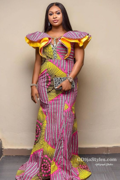 long gown ankara styles pictures long gown ankara styles pictures - long gown ankara styles pictures 8 - Stunning! See The 35 Latest Long Gown Ankara Styles Pictures We Are Currently Vibing With