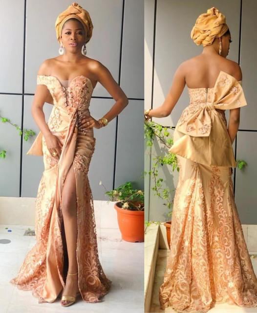 Gold Lace AsoEbi Dresses gold lace asoebi styles - 50070547 239343460290691 5439110010943434187 n 526x640 - These 25 Gold Lace AsoEbi Dresses Are Nothing But Stunning and Gorgeous