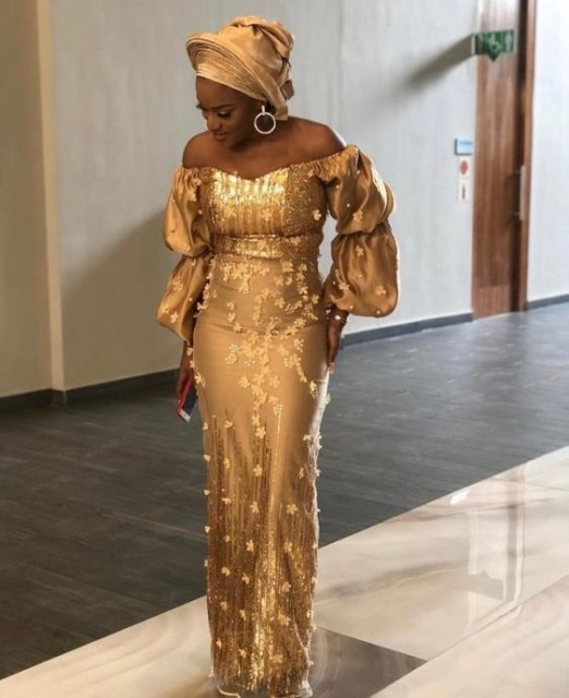 Gold Lace AsoEbi Dresses gold lace asoebi styles - IMG 8847 522x640 - These 25 Gold Lace AsoEbi Dresses Are Nothing But Stunning and Gorgeous