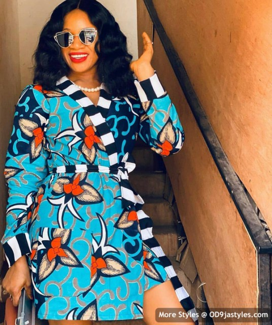 Well Made Ankara Dresses well made ankara dresses - Well Made Ankara Dresses 30 536x640 - 45 IMAGES: Well Made Ankara Dresses That Will Inspire You – African Fashion Outfits