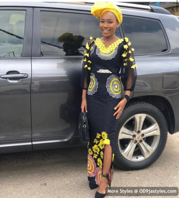 Well Made Ankara Dresses well made ankara dresses - Well Made Ankara Dresses 41 579x640 - 45 IMAGES: Well Made Ankara Dresses That Will Inspire You – African Fashion Outfits