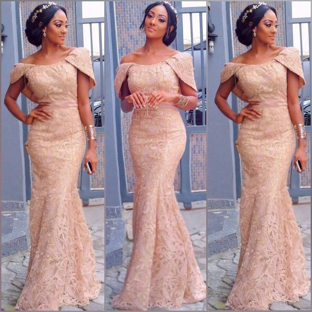 Gold Lace AsoEbi Dresses gold lace asoebi styles - a9676135d2e3f5faef17a1a3797ca4d0 640x640 - These 25 Gold Lace AsoEbi Dresses Are Nothing But Stunning and Gorgeous
