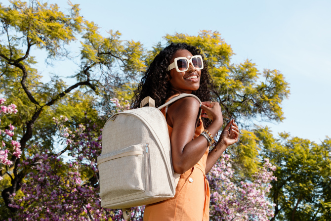 STYLECASTER | BEIS Woven Collection Everyday Backpack