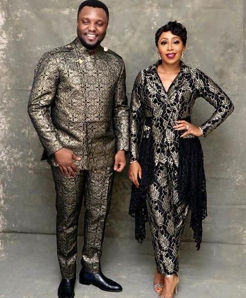 Dakore and hubby styled by Rhoda Ebun