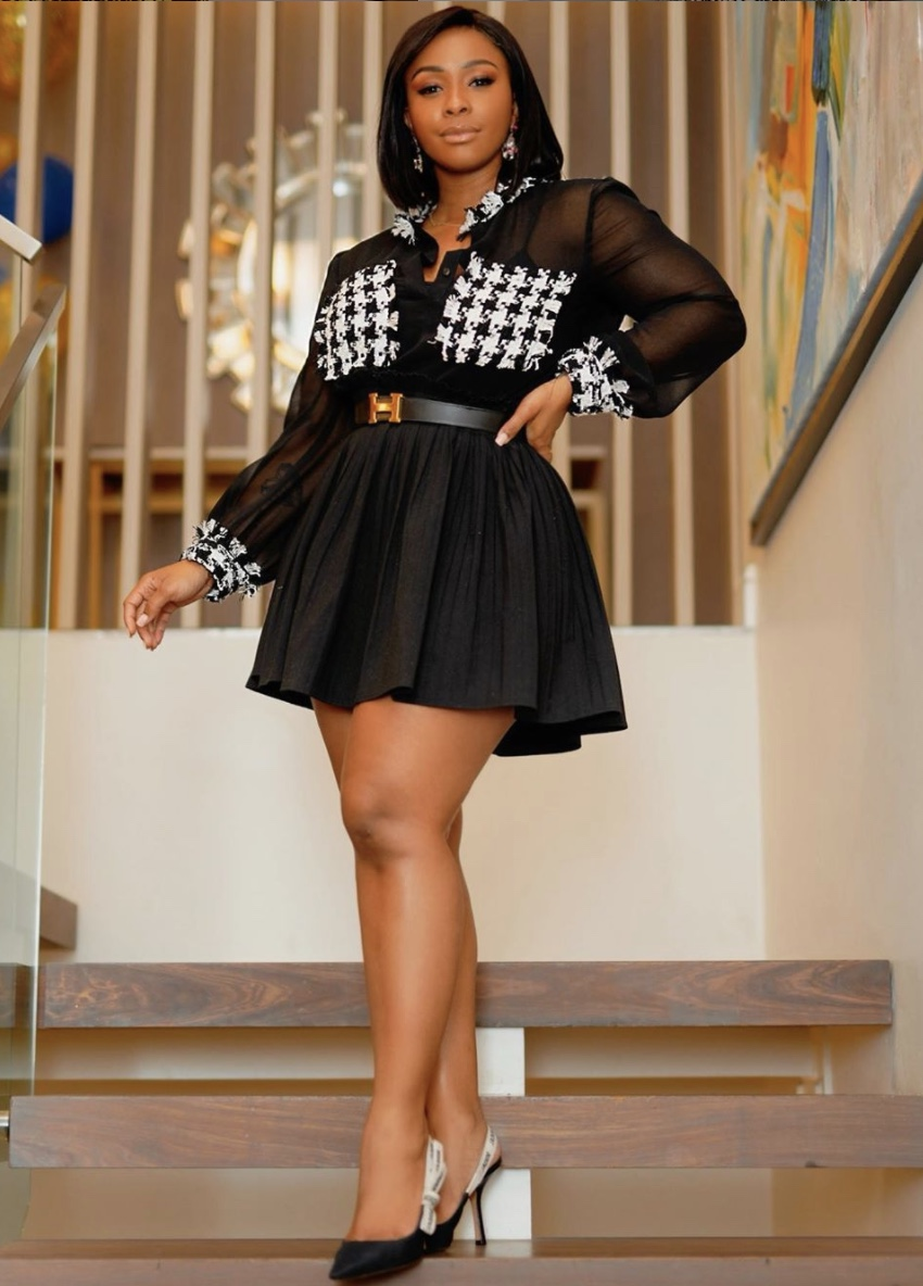 Boity Thulo Houndstuit Black See through shirt