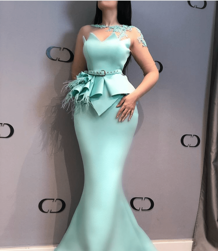 Sea green scuba dress
