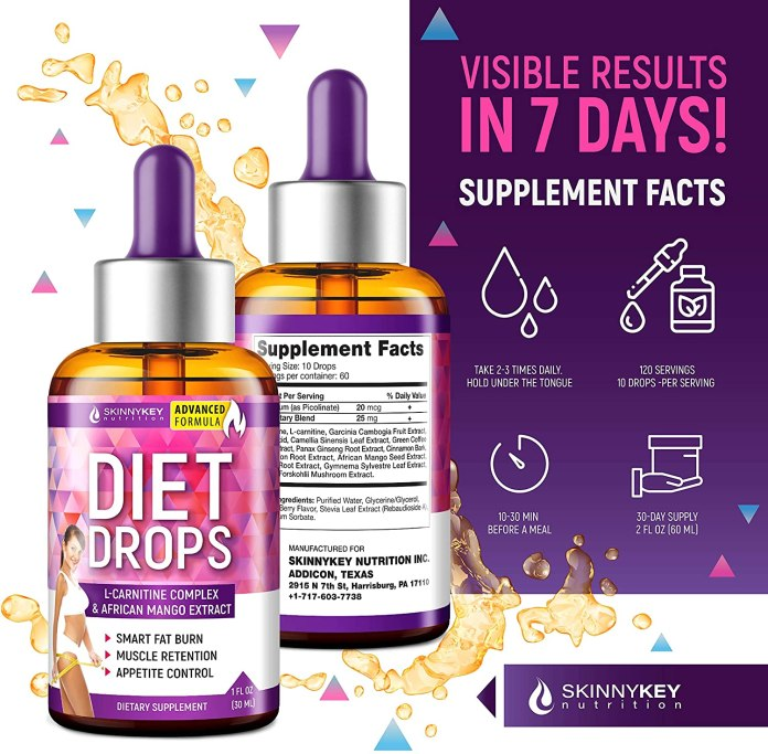 Weight Loss Drops for Women & Men - Metabolism Booster Diet Drops - SkinnyKey Weight Loss Drops for Women & Men – Metabolism Booster Diet Drops – SkinnyKey