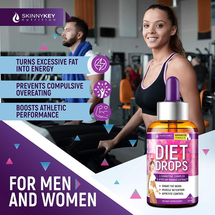 Weight Loss Drops for Women & Men - Metabolism Booster Diet Drops - SkinnyKey