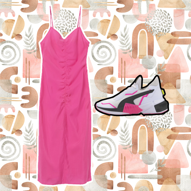 STYLECASTER | Dresses and Sneakers Outfits