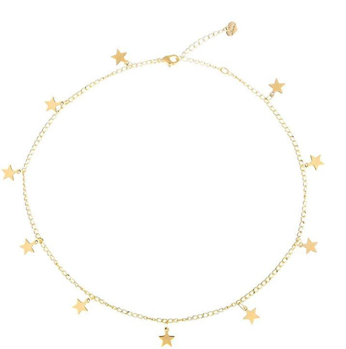 S Jewelry moon choker
