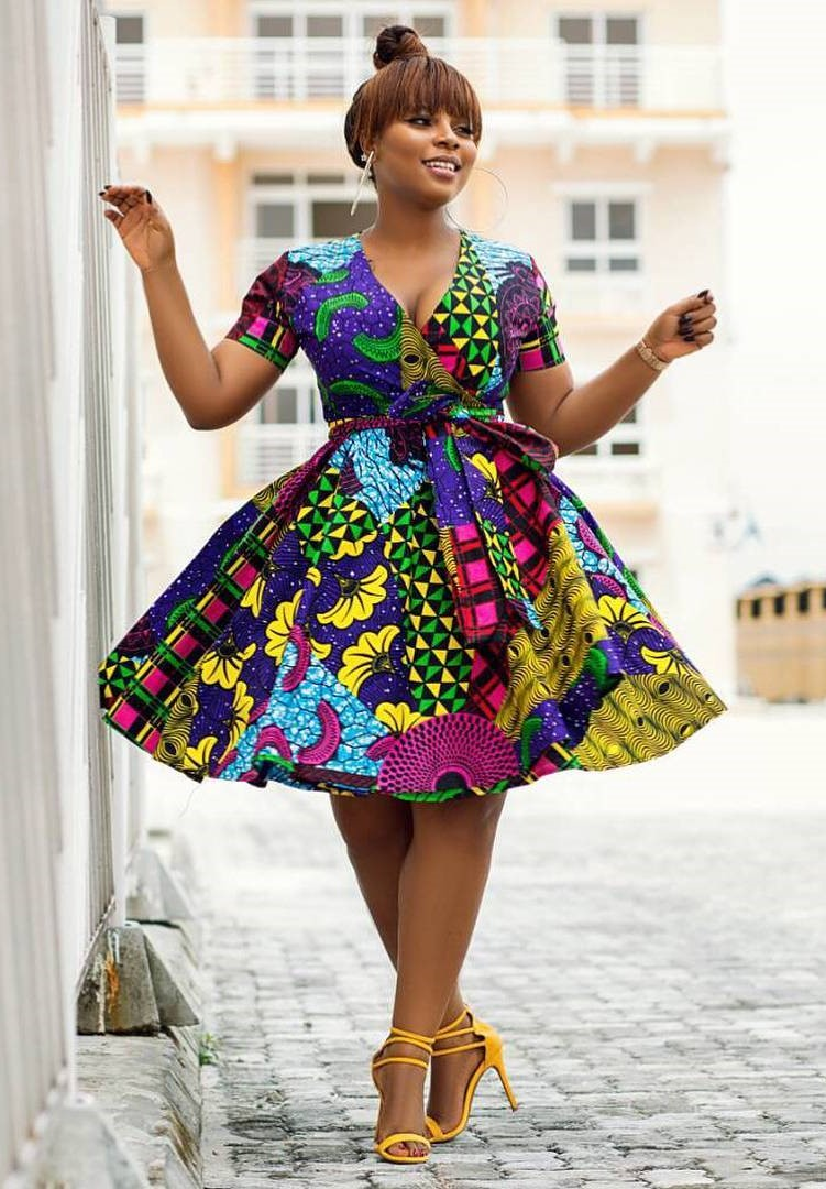 Ankara short gown designs Ankara short gown designs