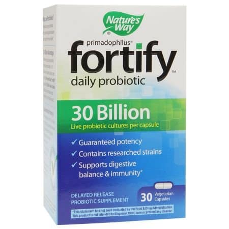 Nature's Way Primadophilus Fortify Daily Probiotic 30 Billion