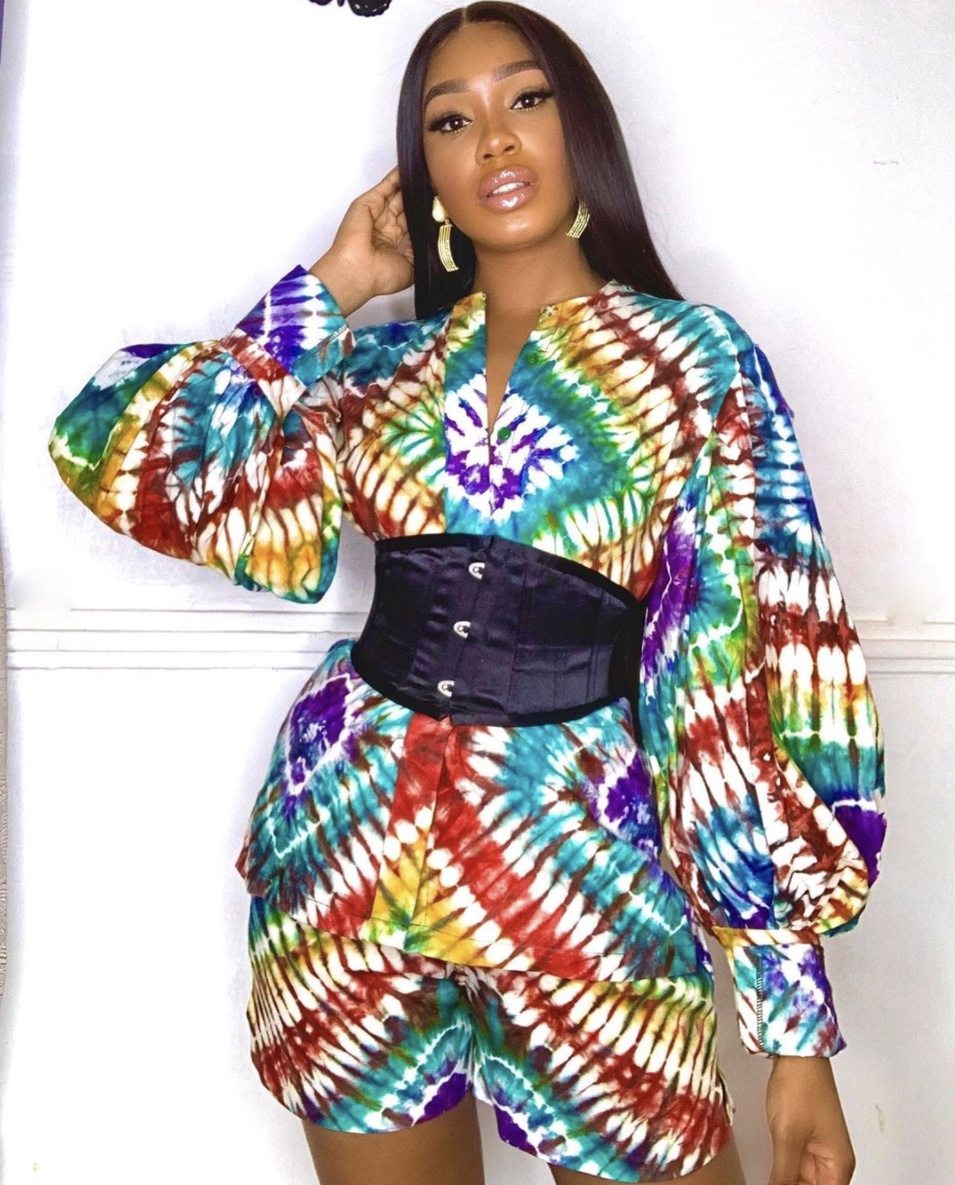 Sharon Ooja adire fabric latest fashion trends co-ord sets stylerave