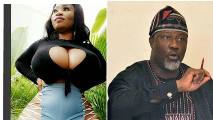 """""""I Am Not Your Uncle""""- Senator Dino Melaye Replies After Curvy Model,Roman Goddess Who Said He Was Her Uncle."""