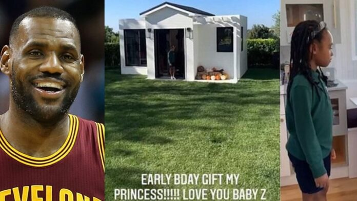 Basketballer James Lebron Gifts His Daughter,Zhuri A Mansion Worth 8.7 Billion For Her 6th Birthday(Video)