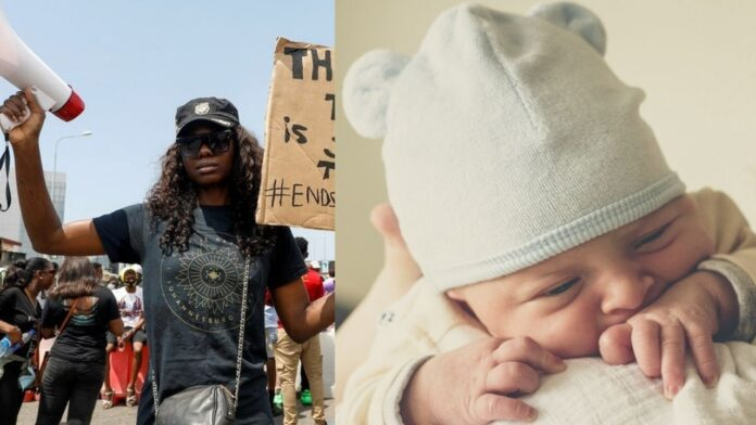 #ENDSWAT: Mother Tells Medical Teams To Keep Her Baby Till The Next Day After She Forgot Her At Protest Ground(Photos)